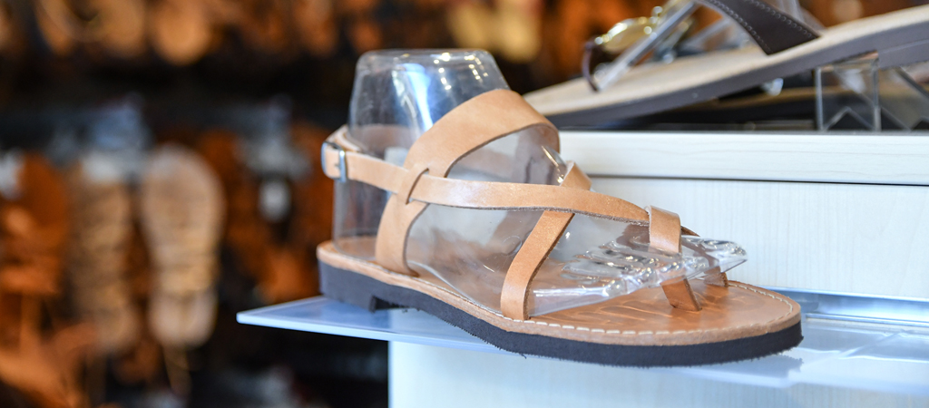 Ancient Greek Sandals in Olympia